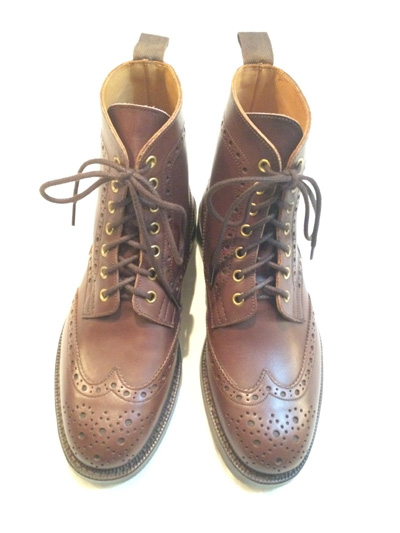 Tricker's  トリッカーズ M7022 Mens Naster Brogue Boots (Antique)